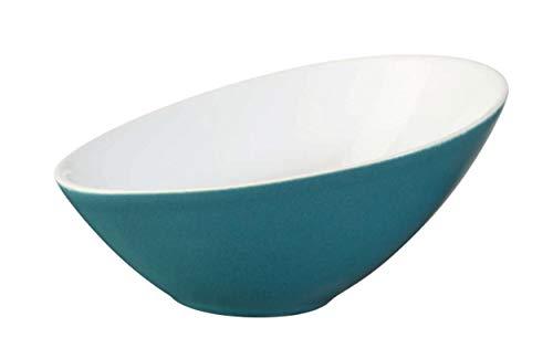 ASA 91051150 Schale/Scüssel - VONGOLE - asymmetrisch - türkis - Porzellan - L. 15,5 cm