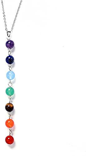 banbeitaotao Joyas de Piedra de ágata Que curan a Las Mujeres con Mate Natural de 8 mm de Color con Cuentas de Buda Chakra Colgante, Collar para Hombres