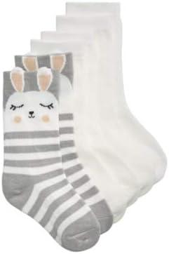 Trimfit 3-Pack Bunny Crew Socks, Little Girls