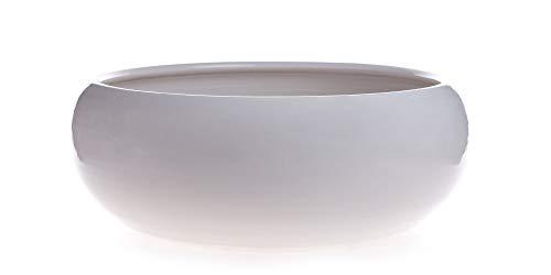Maceta DE Ceramica ESMALTADA Color Blanco.Modelo Pauly.Medidas 25X10.