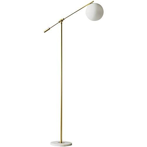 N/A Stehlampe, einfach, modern, Wohnzimmer, Schlafzimmer, Nachttisch, Sofa, vertikal, 22 × 160 cm, Milchweißes Glas Lampenschirm