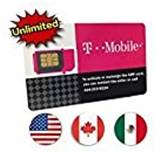 T-Mobile Prepaid SIM Card Unlimited Talk, Text, and Data in USA with 5GB Data in Canada and Mexico for 10 days