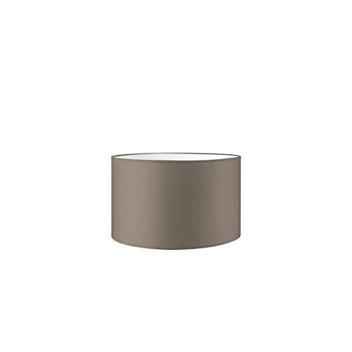 Lampenschirm rund | Bling | Stofflampenschirm | Textilschirm | Baumwolleschirm | Für E27 Fassung | Durchmesser 35cm Höhe 21cm | Beige | Für alle Innenraumen IP20 | Ohne Leuchtmittel