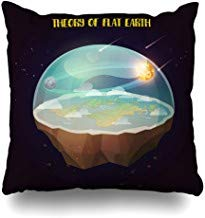 GFGKKGJFF0812 Global Ancient Flat Earth Nature Atmosphere Comets Science Atlas Belief Cartography Conspiracy Funda de cojín 18 x 18 para sofás, Asientos, Fundas de Almohada para niñas