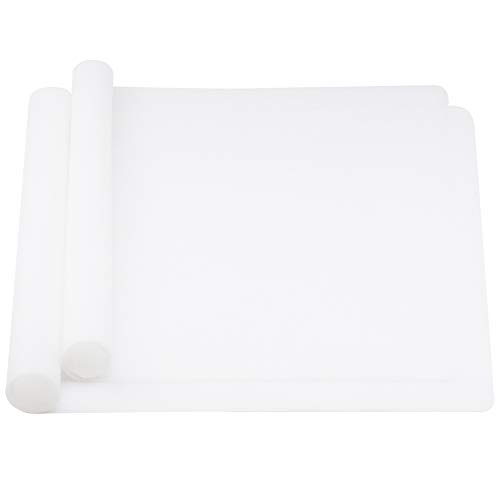 wellhouse 23.6  by 15.7  Extra Large Mulitpurpose Silicone Nonstick Pastry Mat Countertop Protector Heat Resistant Nonskid Table Mat (Translucent)