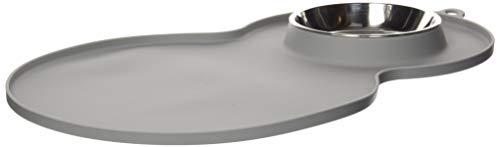 Catit 44013 Silikonmatte Erdnuss, 46 x 29 cm, grau