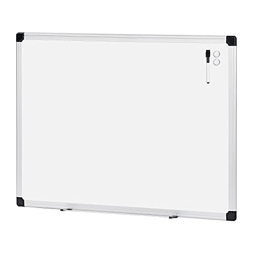 Amazon Basics Magnetic Dry Erase White Board, 35 x 47-Inch Whiteboard - Silver Aluminum Frame