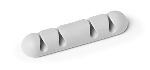 Durable 504010 Kabel Clips Cavoline Clip 4 (selbstklebend, für 4 Kabel), 2 Stück, grau