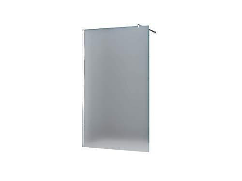 10 mm Duschtrennwand Duschwand Trennwand Duschabtrennung Walk-In Düsseldorf - Milchglas, Frost 100 x 200 cm