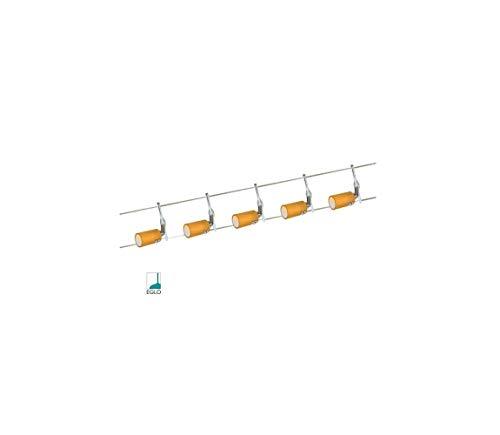 Halogen Seilsystem Seilset 5x20W G4 orange Glas 6m 105VA 51233 12V