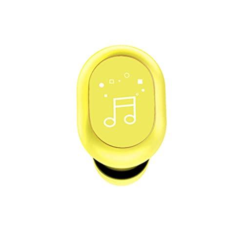 Auriculares inalámbricos de un Solo Lado F911 Touch Diseño de Cuerpo Artificial Un Solo oído Amarillo