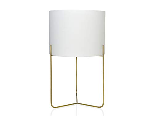 ANDREA HOUSE - Lámpara de Mesa Gatsby de latón Dorado y Pantalla Blanca Ø30x50cm
