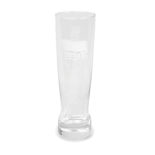 Hertha BSC Berlin witbierglas logo, glas, bierglas, witglas - plus bladwijzer I Love Berlijn