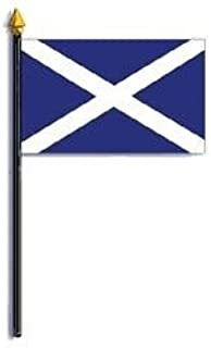 Scotland St. Andrews Cross Flag Rayon On Staff 4 in. x 6 in.