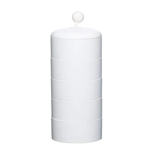 deendeng Cajas para pendientes – Organizador de joyas giratorio multiusos 360 = organizador de maquillaje transparente