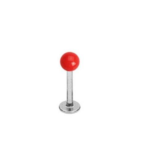 Paula & Fritz® universele lippiercing stud Labret Monroe Cartilage roestvrij staal chirurgisch staal 316L bal acryl krachtige kleuren