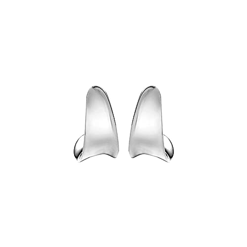 YFZCLYZAXET Ohrstecker Ohrring Damen 925 Silberne Nadel Ohrstecker Einfache Vergoldete Ohrschnallen Mode Ohrknochen Trendige Ohrstecker Ohrknochen-Silber Klein