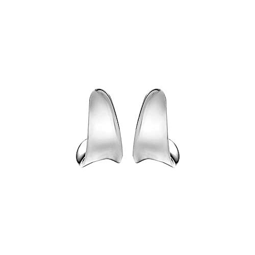 YFZCLYZAXET Pendientes Mujer Pendientes De Plata 925 con Forma De Aguja Hebillas De Oreja Chapadas En Oro Simples Huesos De Oreja De Moda Oreja De Oreja De Moda Huesos De Oreja-Plata Pequeña