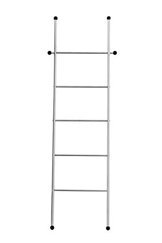 WENKO Escalera toallero Vita - Toallero, perchero, Acero inoxidable, 52 x 158 x 3 cm, Mate