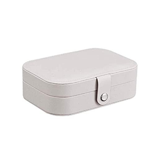ROSG Organizador de Caja de joyería, pequeña Caja de Almacenamiento de joyería de Viaje para Anillos, Pendientes, Collar, Pulseras, Caja de Regalo de joyería para niñas y Mujeres (Color: Blanco)