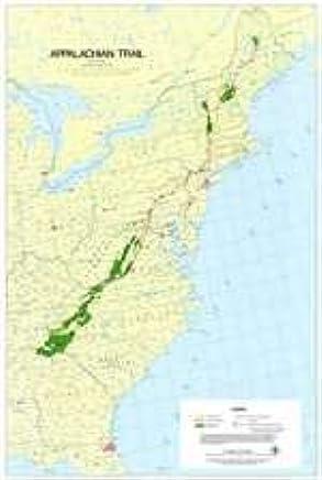 Appalachian Trail Wall Map (Maine to Georgia): Appalachian Trail ...
