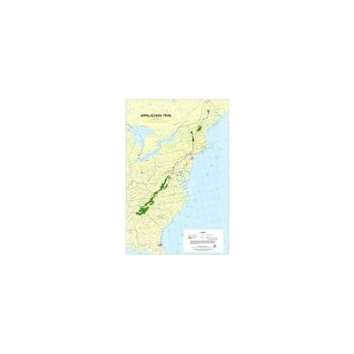 Appalachian Trail In Maine Map.Map Of Maine Amazon Com