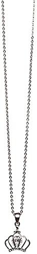 Collar de estilo coreano de la moda de simple temperamento todos-partido de corona pequeña clásico colgante de oro rosa delicado de la cadena de clavícula