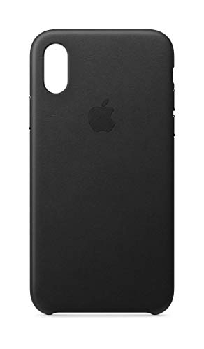 Apple Leather Case (for iPhone Xs) - Black