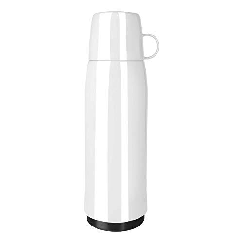 Emsa 518516 Rocket thermosfles, 0,9 liter, 12 uur warm, 24 uur koud, met dubbelwandige thermosfles van glas, BPA-vrij, wit