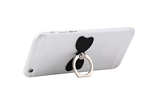lenoup 4 Pack Cell Phone Bow Ring Holder,Bowknot Phone Ring Kickstand,Universal 360 Rotation Cell Phone Finger Ring Grip for Almost All Phones,Pad