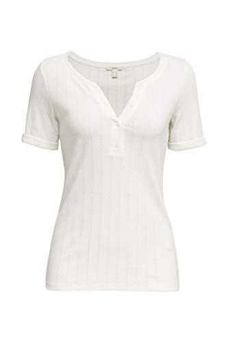 ESPRIT shirt met Ajour-patroon, 100% Organic Cotton