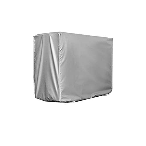 Gormyel - Copertura impermeabile per condizionatore d'aria per esterni, protezione solare antipolvere per esterni, facile da pulire, colore: argento (3 misure)