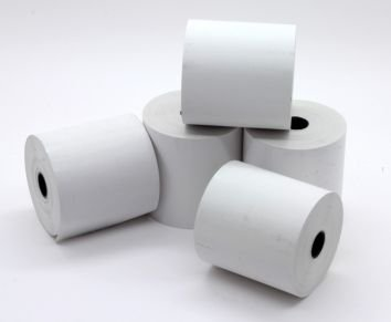 Rollos de papel térmico para caja registradora, 57 x 57 mm
