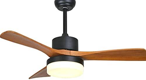 Fans de techo LED para sala de estar 220V Fans de madera con luces con luces Cuchillas de 42 pulgadas Fans de enfriamiento de la lámpara de atenuación remota Ventilador de techo para sala de estar Dor