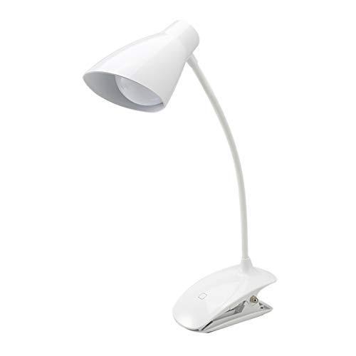 RONGW JKUNYU Clip LED Luce, Battery Operated Lampada di Lettura, USB Ricaricabile Chiara del Libro, Oscurabile Touch-Lampada da Comodino, Portatile Desk Lamp con Buon Occhio