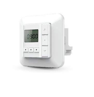 PALMAT Temporizador de Pared con botón pulsador Receptor para persianas/Cortinas eléctricas Interiores...
