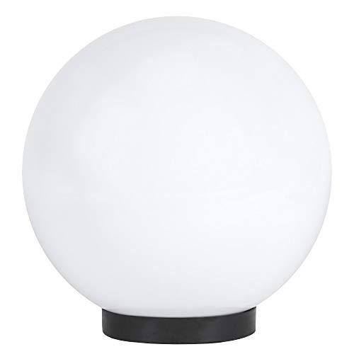 Kugelleuchte Ø 25 cm UV beständig | Terrassenbeleuchtung IP44 | Gartenleuchte weiß | Außenkugelleuchte 230 V | Dekorationsleuchte Außen | Gartenbeleuchtung mit E27 Porzellanfassung LED geeignet