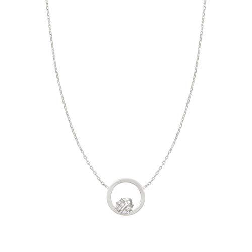 Nomination Halskette der Milù Kollektion in 925er Silber und Cubic Zirkonia mit Marienkäfer