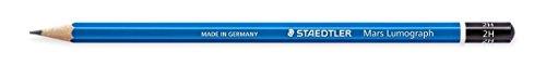 Staedtler 100-2H 2H 12pieza(s) - Lápiz (2H, Azul, Hexagonal, Alemania, PEFC, 2 mm)