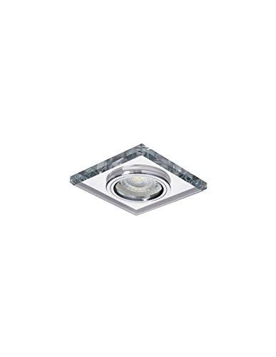 Kanlux Einbaustrahler Quadrat, Glas, silber, CT-DSL50-SR