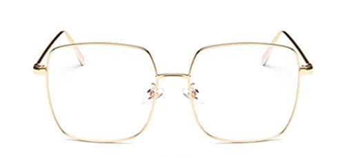Tofox Filtro Luce Blu Occhiali Montature Occhiali Da Vista Retro Metallo Quadrati Occhiali Da Vista Lenti Chiare Donne Uomo