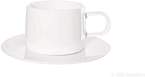 ASA 29062017 Tasse avec soucoupe Blanc Diamètre 8,3 cm Hauteur 6,7 cm 0,2 l