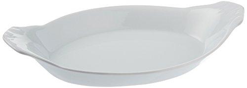 Bia Cordon Bleu White Oval Porcelain Au Gratin Bowl, 8 oz, White