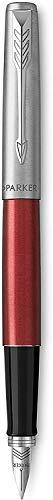 Parker Jotter Penna Stilografica con Dettagli Cromati, Confezione Regalo, Kensington Red