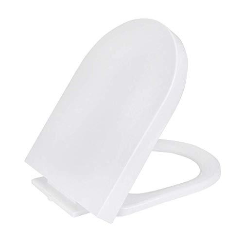 YWTT Placa de Cubierta para Asientos de Inodoro Tipo U, Tapa de Asiento de Inodoro de Cierre Lento silencioso, hogar Blanco (tamaño: Grande)