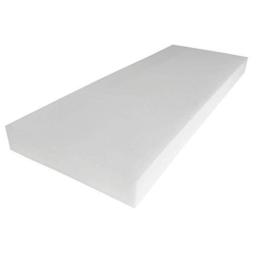 """FOAMMA 3"""" x 24"""" x 96"""" Upholstery Foam High Density Foam (Chair Cushion Square Foam for Dining Chairs, Bench Seat Cushion Replacement)"""
