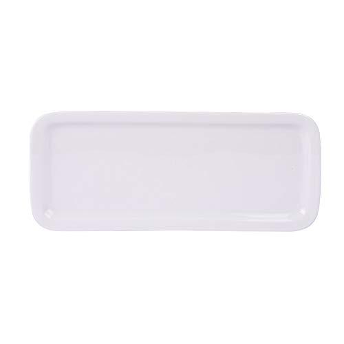 Table Passion - Plat à cake porcelaine blanche 30 cm