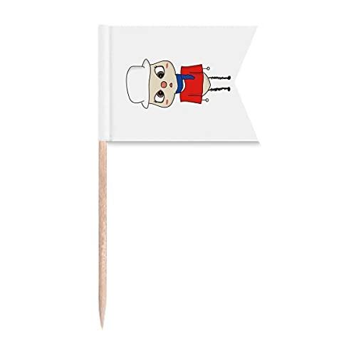 UU Zahnstocher Flaggen Russland Land Europa Moskau-Flagge Markierung für Party Kuchen Lebensmittel Käseplatte