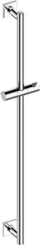 KEUCO IXMO Brause-Stange hochglanz-verchromt, 85,5 cm lang mit Handbrausehalter, verstellbare Höhe und Neigung, eckige Rosetten, Wandmontage