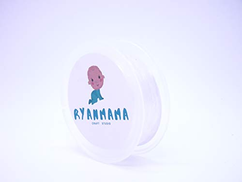 RYANMAMA Transparent Clear Lightweight Elastic Strap for Lingerie Dance Bra Swimwear Cloth Sewing Project 0.23' (11 Yards)